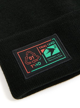 Шапка Trailhead HAT20-19-LBL-Diagon1_BK Черная, HAT20-19-LBL-Diagon1_BK, фото 2